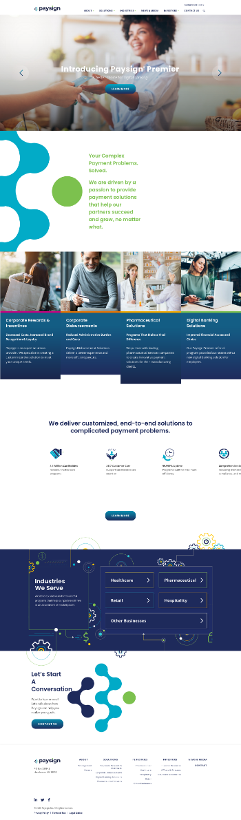 PaySign, Inc. Website Screenshot