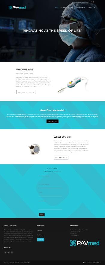 PAVmed Inc. Website Screenshot