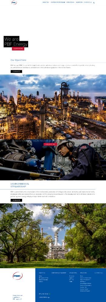 PBF Energy Inc Website Screenshot