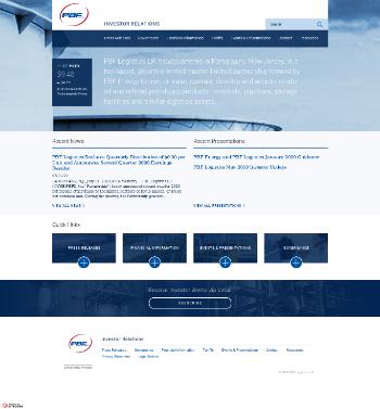 PBF Logistics LP Website Screenshot