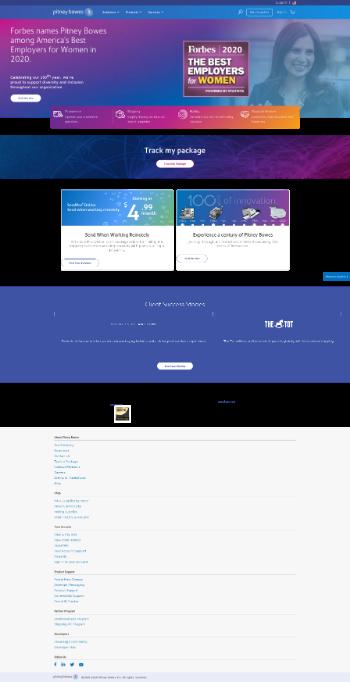 Pitney Bowes Inc. Website Screenshot