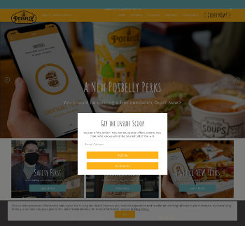 Potbelly Corporation Website Screenshot