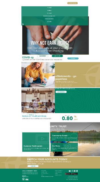 Pathfinder Bancorp, Inc. Website Screenshot