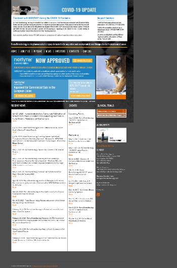 Puma Biotechnology, Inc. Website Screenshot