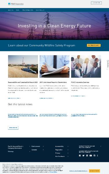 PG&E Corporation Website Screenshot