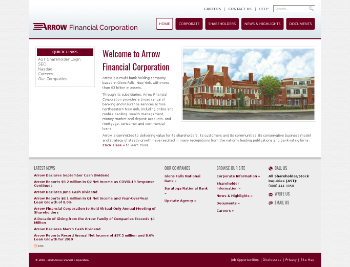 Arrow Financial Corporation Website Screenshot