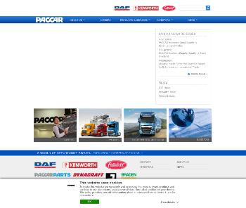 PACCAR Inc Website Screenshot