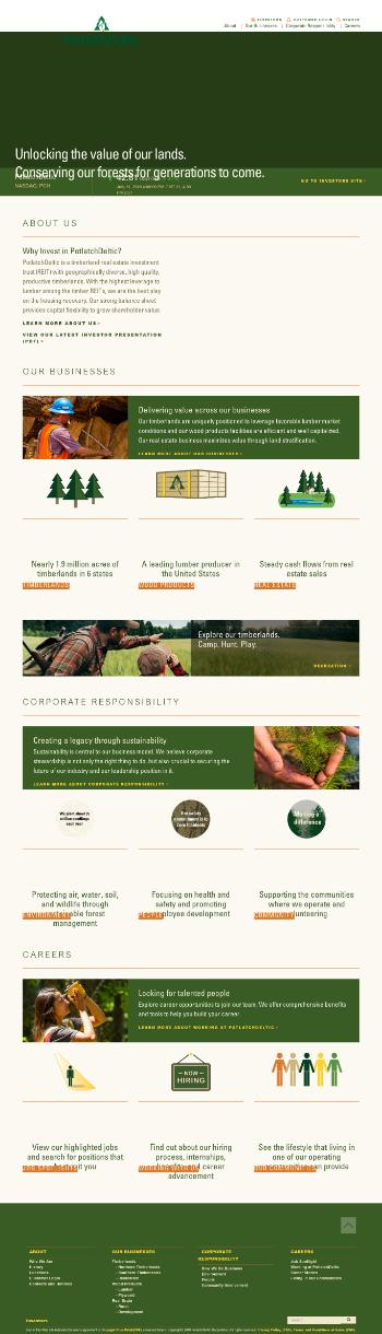 PotlatchDeltic Corporation Website Screenshot