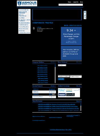 ARMOUR Residential REIT, Inc. Website Screenshot