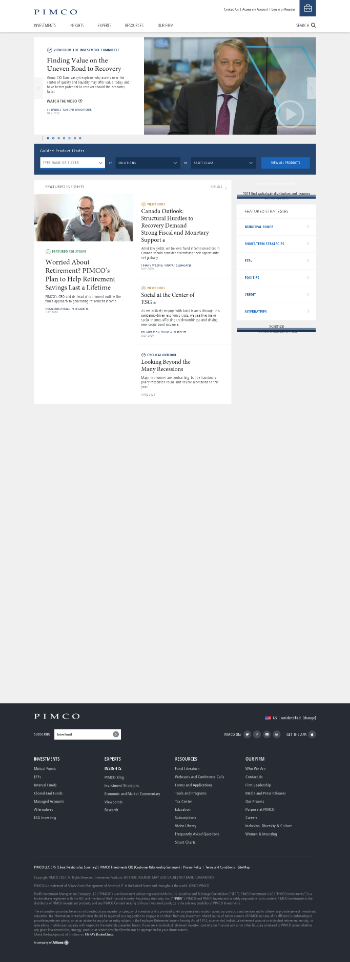 PIMCO California Municipal Income Fund Website Screenshot