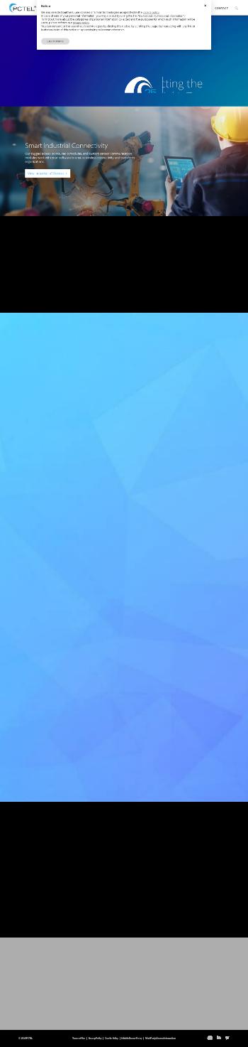 PCTEL, Inc. Website Screenshot