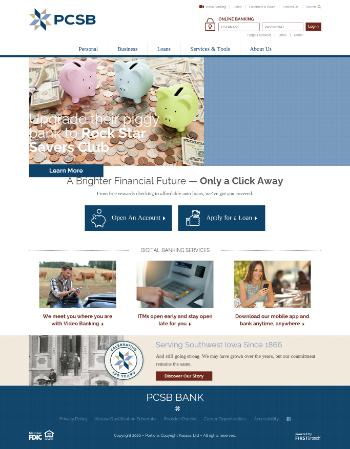 PCSB Financial Corporation Website Screenshot