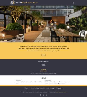 Pebblebrook Hotel Trust Website Screenshot