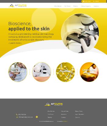 Arcutis Biotherapeutics, Inc. Website Screenshot