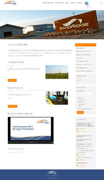 SandRidge Permian Trust Website Screenshot