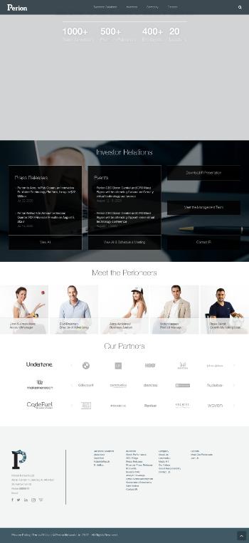 Perion Network Ltd. Website Screenshot