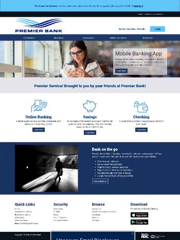 Premier Financial Bancorp, Inc. Website Screenshot