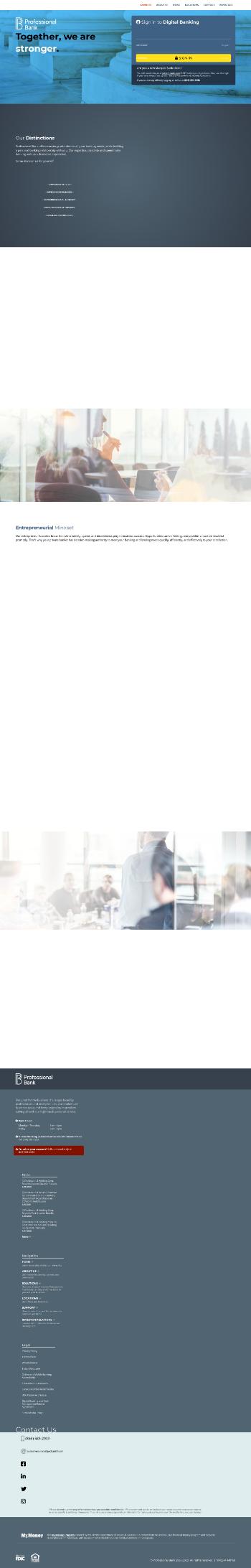 Professional Holding Corp. Website Screenshot