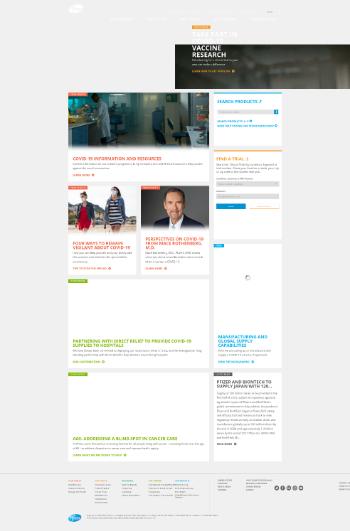 Pfizer Inc. Website Screenshot