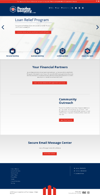 Peoples Financial Services Corp. Website Screenshot