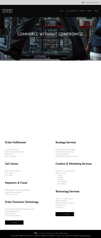 PFSweb, Inc. Website Screenshot