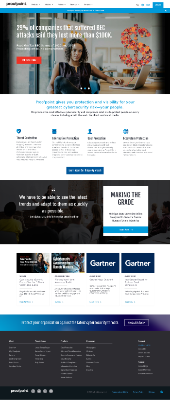 Proofpoint, Inc. Website Screenshot
