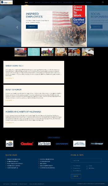 PulteGroup, Inc. Website Screenshot