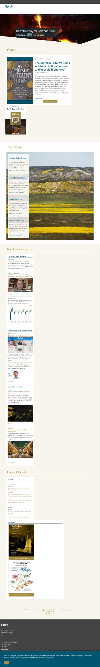 Sprott Physical Gold Trust Website Screenshot