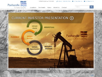 Panhandle Oil and Gas Inc. Website Screenshot