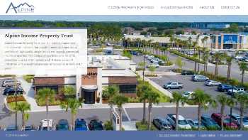Alpine Income Property Trust, Inc. Website Screenshot