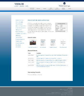 PICO Holdings, Inc. Website Screenshot