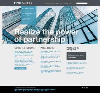 Piper Sandler Companies Website Screenshot