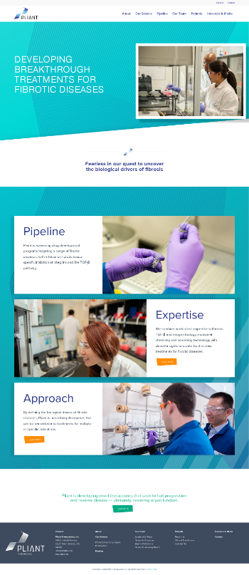 Pliant Therapeutics, Inc. Website Screenshot