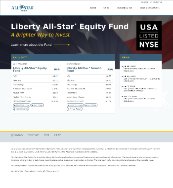 Liberty All-Star Growth Fund, Inc. Website Screenshot