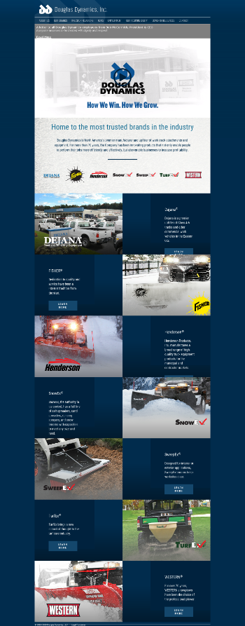 Douglas Dynamics, Inc. Website Screenshot