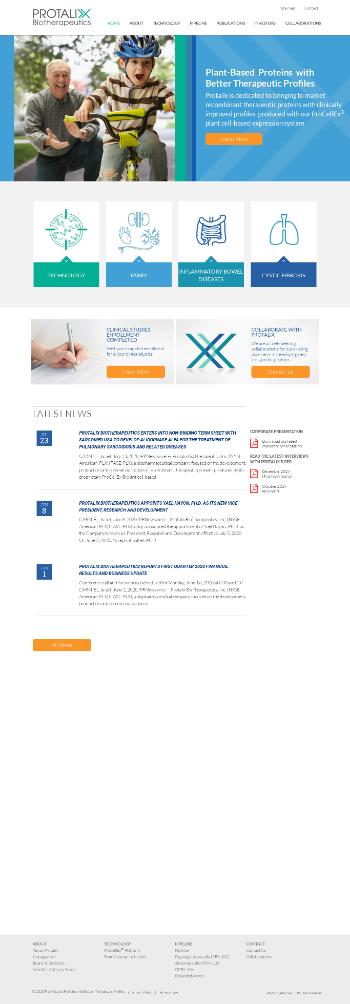 Protalix BioTherapeutics, Inc. Website Screenshot