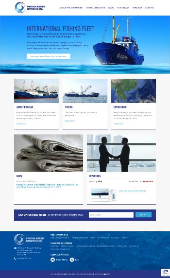 Pingtan Marine Enterprise Ltd. Website Screenshot