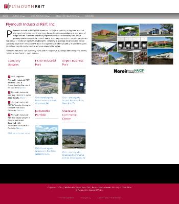 Plymouth Industrial REIT, Inc. Website Screenshot