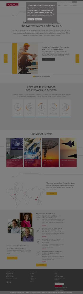 Plexus Corp. Website Screenshot