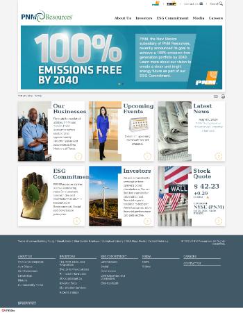 PNM Resources, Inc. Website Screenshot