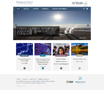 Pinnacle West Capital Corporation Website Screenshot