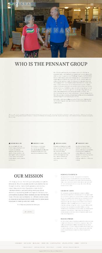 The Pennant Group, Inc. Website Screenshot