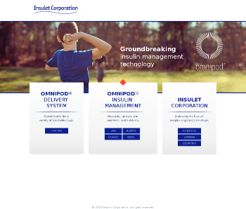 Insulet Corporation Website Screenshot
