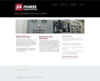 Pioneer Power Solutions, Inc. Website Screenshot