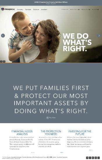 Primerica, Inc. Website Screenshot