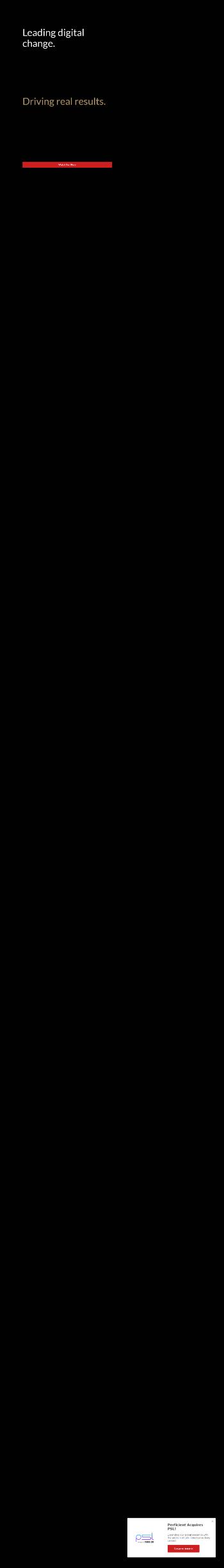 Perficient, Inc. Website Screenshot