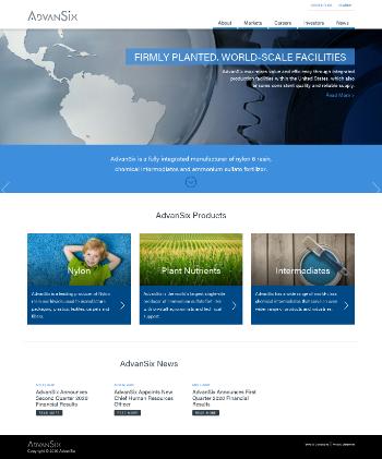 AdvanSix Inc. Website Screenshot