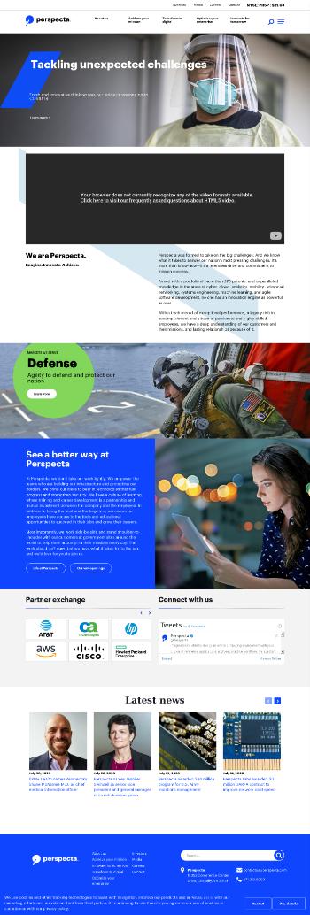 Perspecta Inc. Website Screenshot