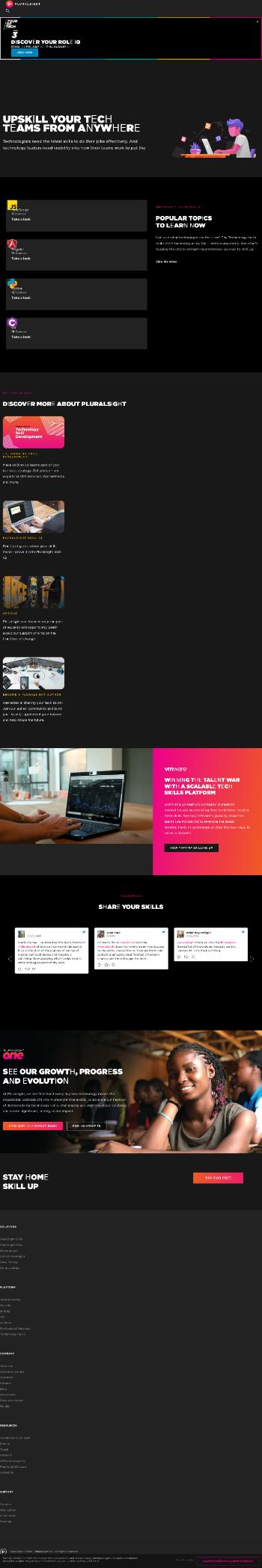 Pluralsight, Inc. Website Screenshot