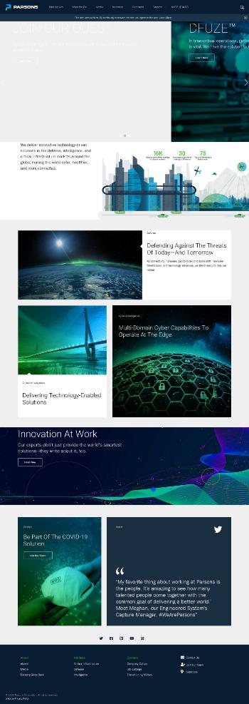 Parsons Corporation Website Screenshot